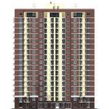 representación 3d del edificio residencial de varios pisos moderno Fotografía de archivo libre de regalías