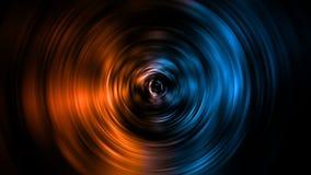 representación 3D del elemento circular abstracto del fuego y del hielo contra contra uno a fondo Calor y concepto frío ilustración del vector