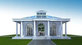 representación 3D del exterior constructivo Perspectiva 3D de la arquitectura Fotos de archivo