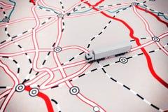 representación 3D del mapa del transporte Imagen de archivo