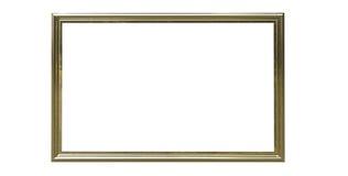 representación 3d del oro medio aislado co metálico de la ejecución moderna Imagenes de archivo