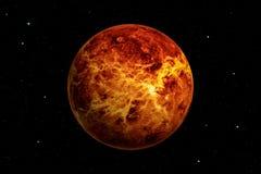 representación 3d del planeta de Venus con el fondo del espacio profundo libre illustration