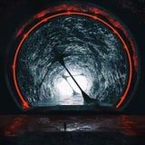 representación 3D del túnel subterráneo futurista Imagen de archivo
