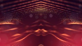 representación 3d, fondo de la ciencia ficción de partículas que brillan intensamente con la profundidad del campo y bokeh Línea  Foto de archivo