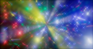 representación 3d Fondo fantástico de partículas que brillan intensamente brillantes en espacio profundo Flashes eléctricos brill ilustración del vector