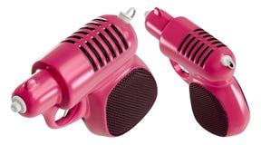 representación 3d orthográfica un sistema del mini arma de agua rosado retro, aislado en el fondo blanco imagen de archivo