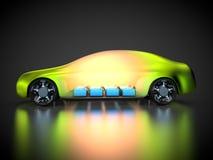 representación 3D: tecnología verde del coche Imagen de archivo