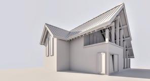 representación 3d Una pequeña casa de campo fotografía de archivo libre de regalías
