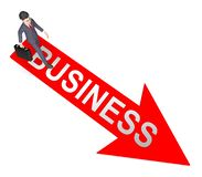 Representación de Business Arrow Represents Commercial Corporations 3d ilustración del vector