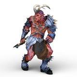 representación de 3D CG del monstruo armado ilustración del vector
