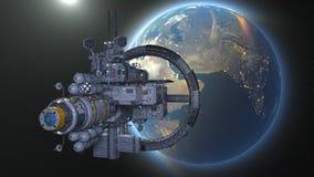 representación de 3D CG del vehículo espacial libre illustration