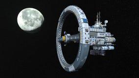 representación de 3D CG del vehículo espacial ilustración del vector