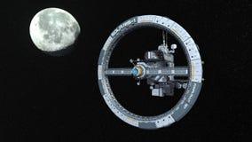 representación de 3D CG del vehículo espacial stock de ilustración