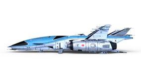 representación de 3D CG del vehículo espacial