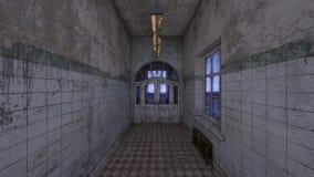 representación de 3D CG del vestíbulo abandonado libre illustration