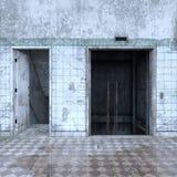 representación de 3D CG del vestíbulo abandonado ilustración del vector
