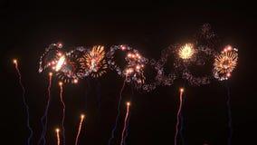 representación de 3D CG de fuegos artificiales