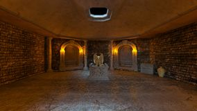 representación de 3D CG de ruinas antiguas stock de ilustración