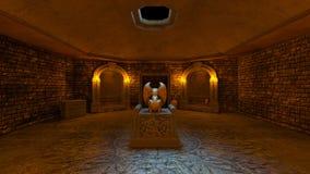 representación de 3D CG de ruinas antiguas ilustración del vector