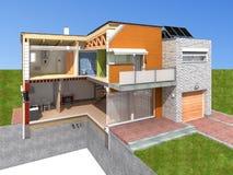 Representación de la casa en la sección