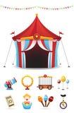 Iconos del circo fijados Fotografía de archivo