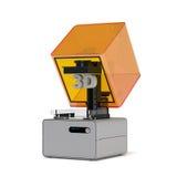 Representación de la impresora 3d de la estereolitografía Foto de archivo libre de regalías