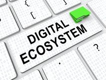 Representación de la interacción 3d de los datos de sistema de Digitaces Eco stock de ilustración