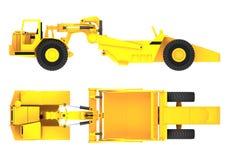 Representación de la máquina 3d del raspador libre illustration