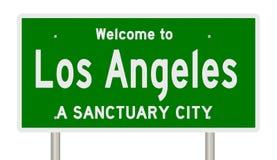 Representación de la muestra de la carretera para la ciudad Los Ángeles del santuario libre illustration