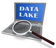 Representación de la nube 3d de Digitaces Datacenter del lago data ilustración del vector