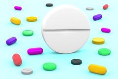 Representación de la píldora 3d del rey libre illustration