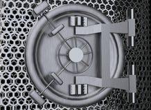 Representación de la puerta 3D de la cámara acorazada de banco ilustración del vector