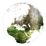 Representación de la tierra 3d del planeta del concepto del mundo Fotos de archivo