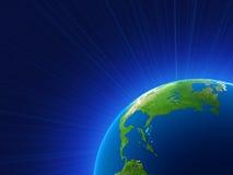 Representación de la tierra del planeta Stock de ilustración