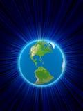 Representación de la tierra del planeta Ilustración del Vector