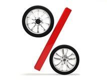 Representación de la venta 3d de la rueda de coche Fotos de archivo