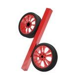Representación de la venta 3d de la rueda de coche Imágenes de archivo libres de regalías