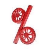 Representación de la venta 3d de la rueda de coche Imagen de archivo