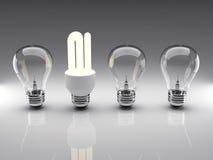 Representación de las bombillas 3d Foto de archivo libre de regalías