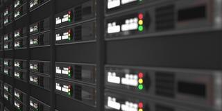 Representación de los servidores 3d del ordenador Foto de archivo libre de regalías