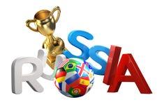 Representación de Rusia 3d del balón de fútbol Fotos de archivo