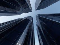 Representación de Skyscapers 3d Foto de archivo libre de regalías