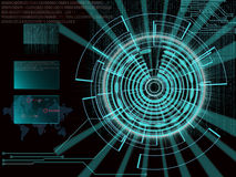 Representación de una blanco cibernética futurista del fondo con el lig del laser stock de ilustración
