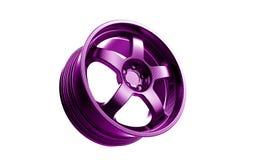 Representación del borde 3d en púrpura Fotografía de archivo libre de regalías