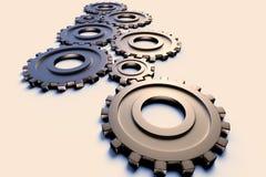 representación del concepto de la industria y de la ingeniería a través de un sistema de ruedas dentadas ilustración del vector