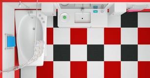 Representación del cuarto de baño 3d Imágenes de archivo libres de regalías