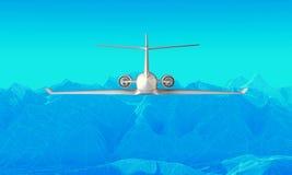 Representación del fondo 3d de las montañas de Wireframe libre illustration