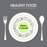 Representación del fondo de la comida de Healty Foto de archivo