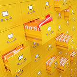 Representación del gabinete de fichero 3D imagen de archivo libre de regalías