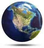 Representación del globo 3d del mundo de la tierra del planeta ilustración del vector